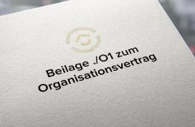 Beilage Organisationsvertrag
