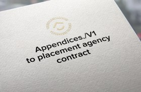 Appendices./V1 to placement agency contract