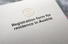Registration form for residence in Austria