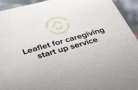Leaflet for caregiving start up service