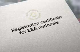 Registration certificate for EEA nationals